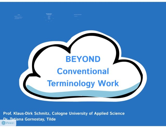 Beyond the Conventional Terminology Work, CHAT2013