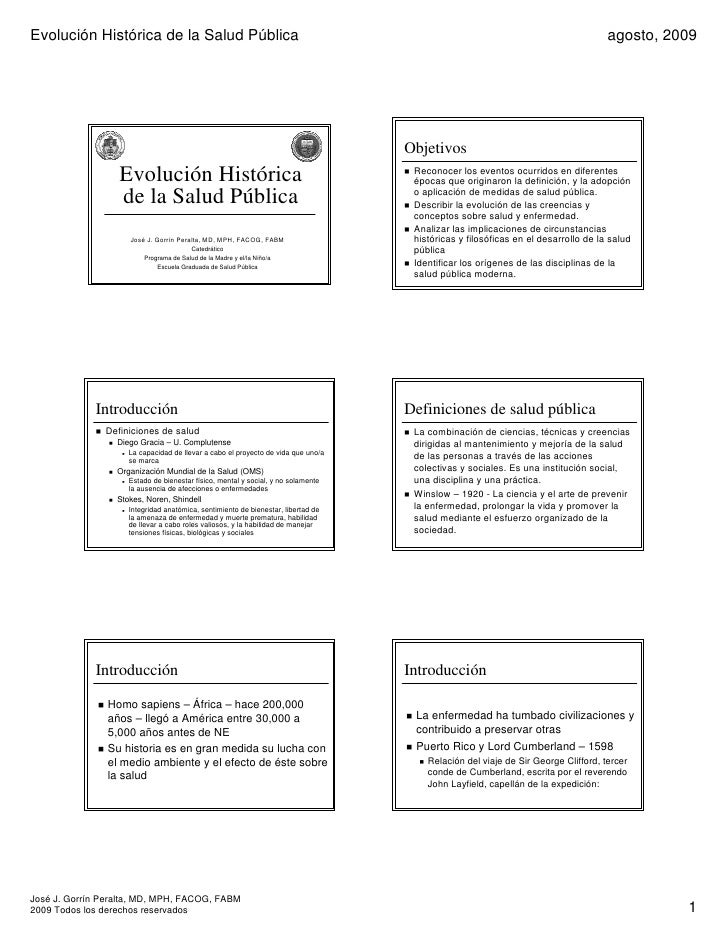 Evolución Histórica de la Salud Pública                                                                                   ...