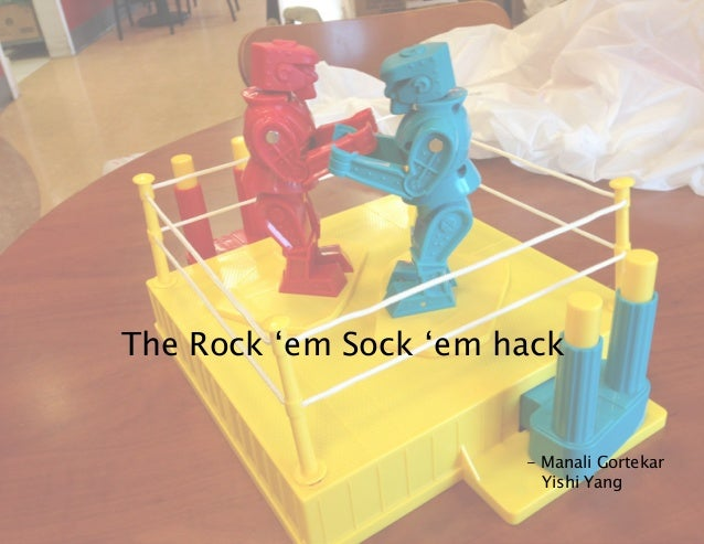 The Rock 'em Sock 'em hack - Manali Gortekar Yishi Yang