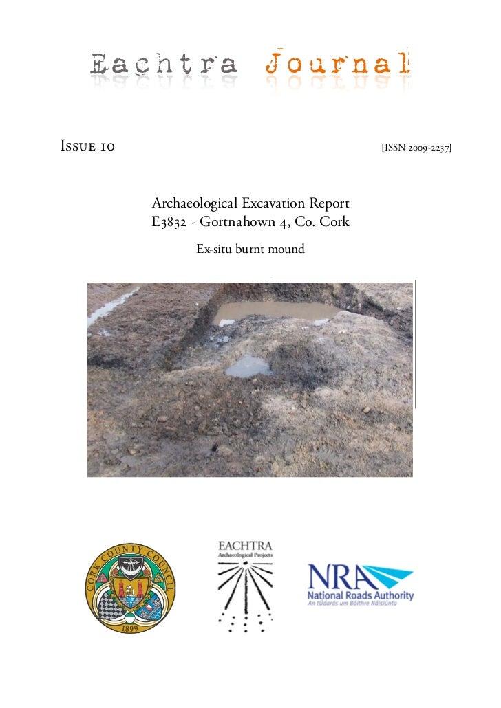 Archaeological Report - Gortnahown 4, Co. Cork (Ireland)