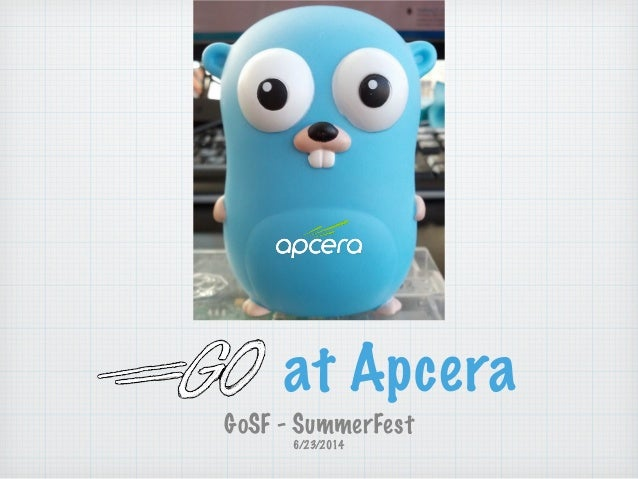 GoSF Summerfest - Why Go at Apcera