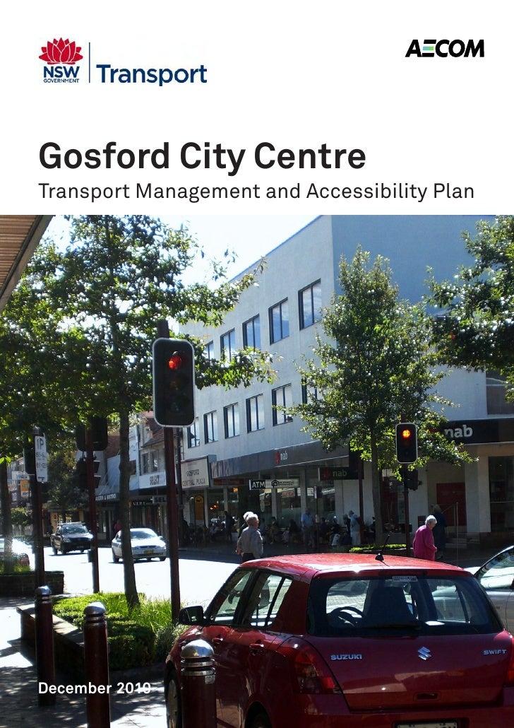 Gosford city centre TMAP