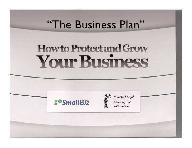 """""""The Business Plan"""""""