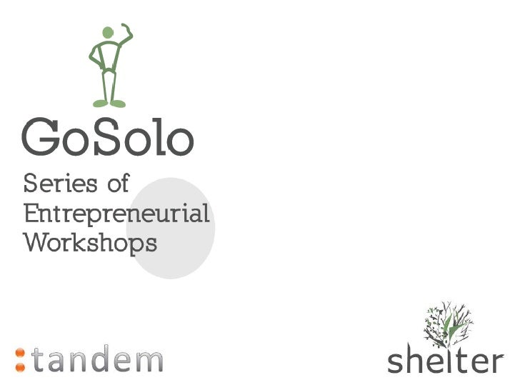 GoSolo Workshop 1: Entrepreneurship