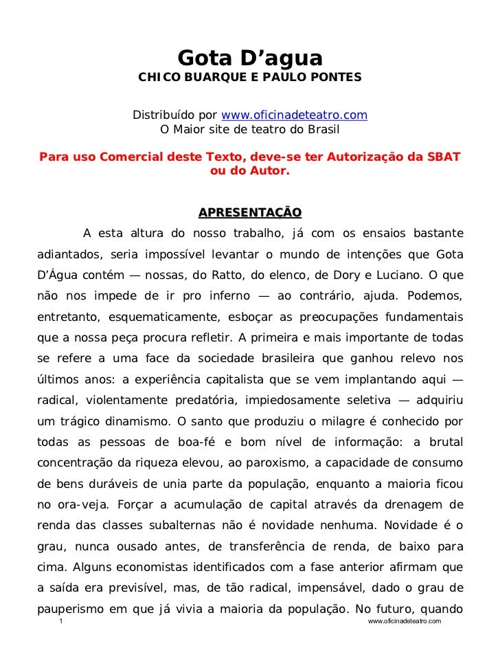 Gota D'agua                 CHICO BUARQUE E PAULO PONTES                Distribuído por www.oficinadeteatro.com           ...