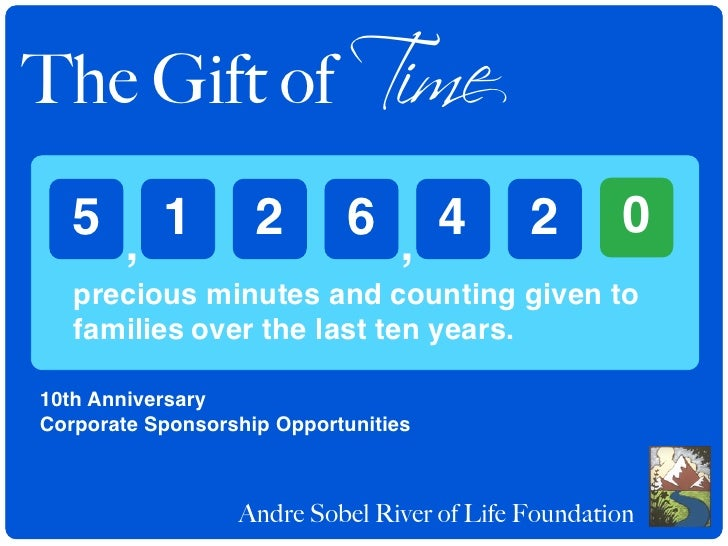 The Gift of Time    5 , 1            2       6 , 4           2       0    precious minutes and counting given to    famili...