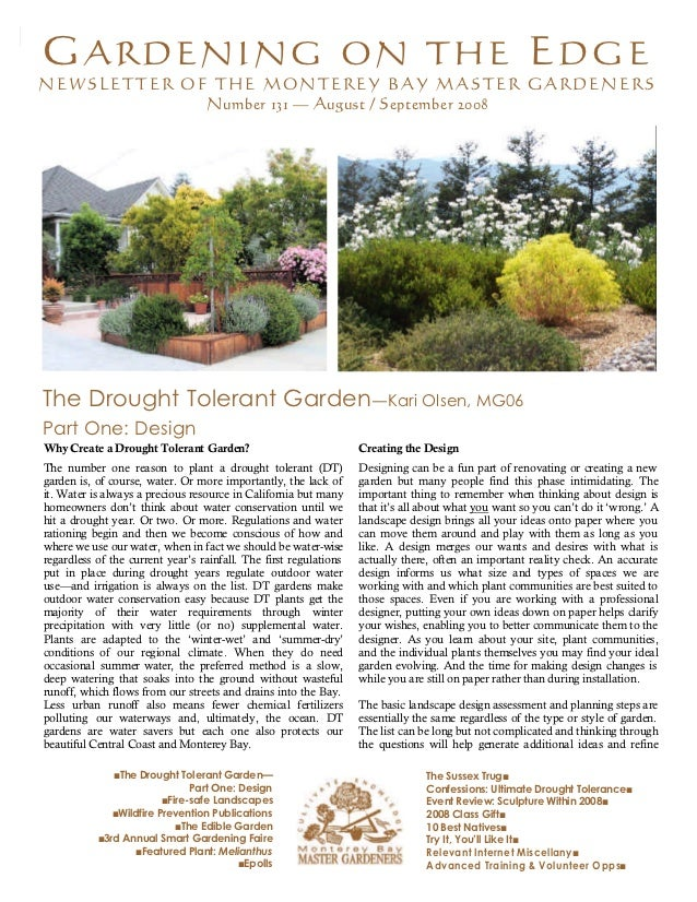 The Drought Tolerant Garden - Monterey, California