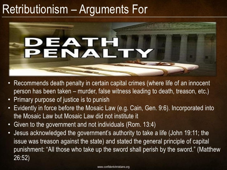 arguments against death penalty If an argument against the death penalty is to be con- structed around this principle, at least three propositions must be accepted.
