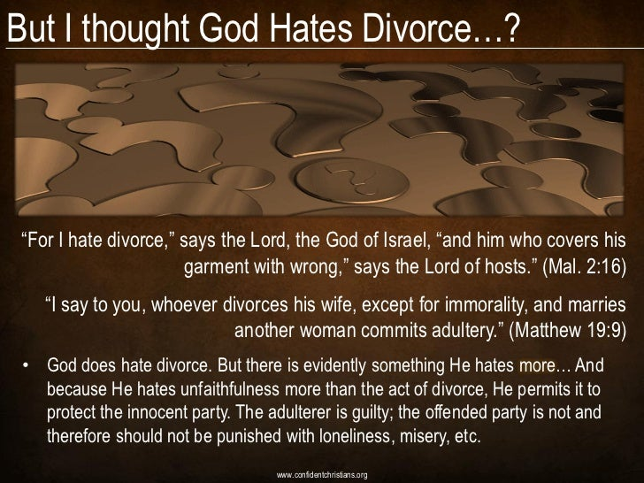 god hates divorce essay