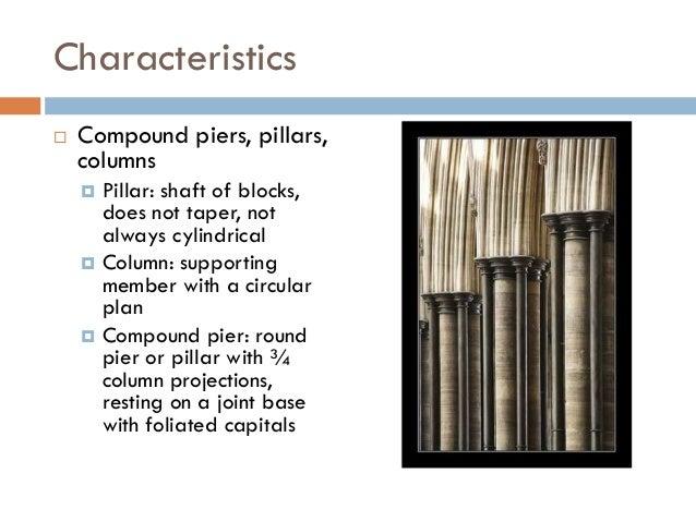 Gothic architecture for V column architecture