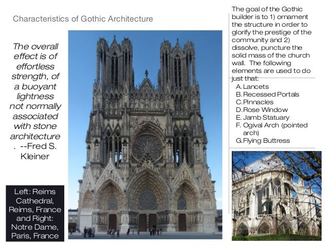 key characteristics of gothic architecture essay Gothic architecture essay the principal structural characteristics of gothic architecture arose out of medieval key concepts and network architecture for.