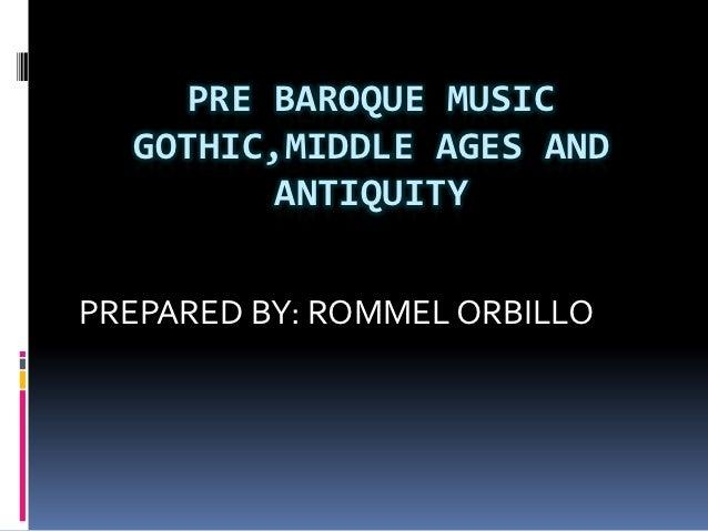 Gothic to antiquity