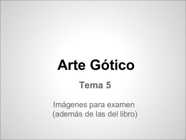Gotico - 2º ESO