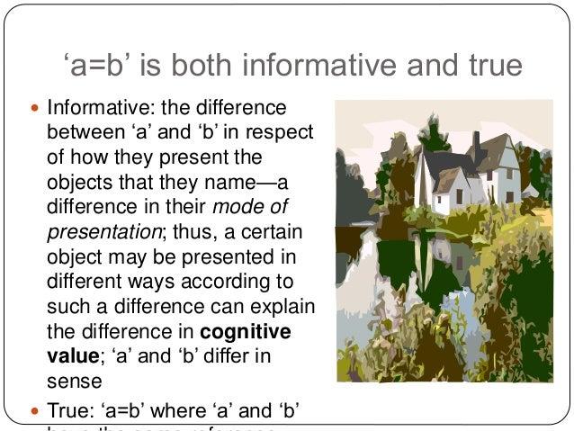 gottlob freges puzzle of identity essay