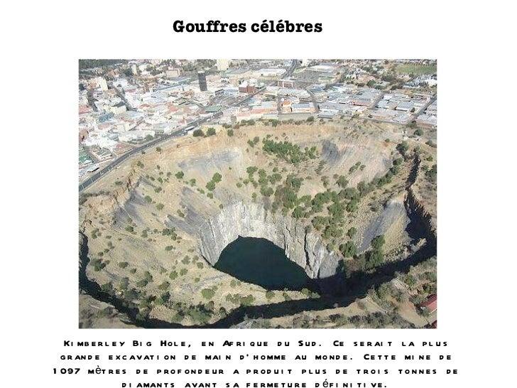 Gouffres célébres Kimberley Big Hole, en Afrique du Sud. Ce serait la plus grande excavation de main d'homme au monde. Cet...