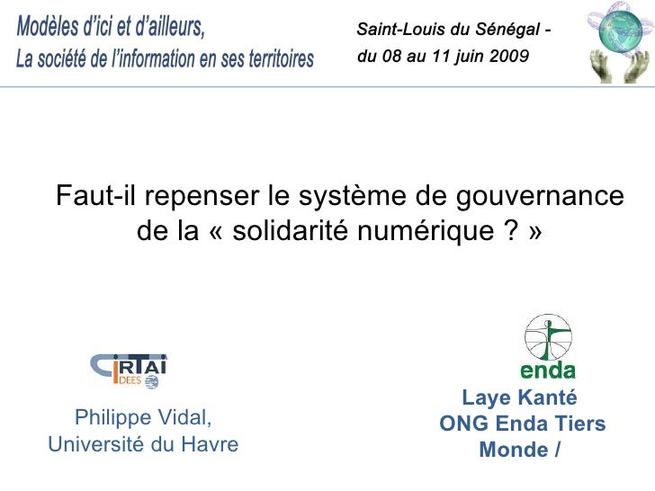 Gouvernance Solidarite Numerique