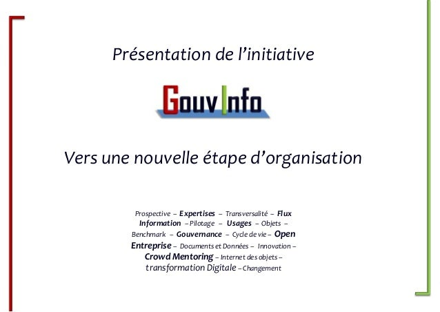GouvInfo IAI - Le futur de la communauté de l'Info