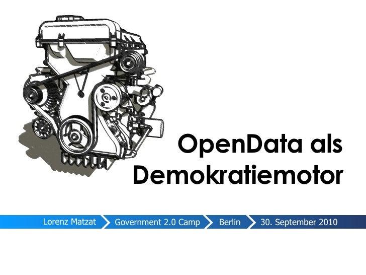 OpenData als Demokratiemotor