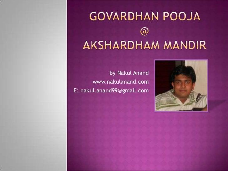 Govardhan Pooja