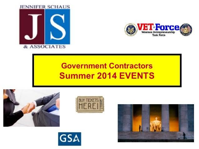Government Contractors Summer 2014 EVENTS