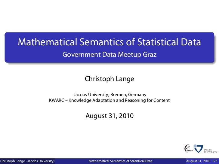 Mathematical Semantics of Statistical Data