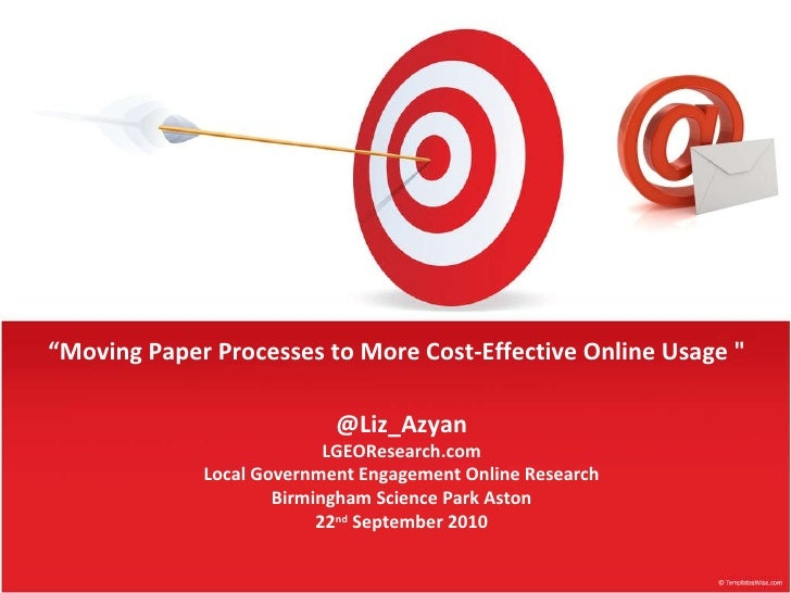 Moving Paper Processes to More Cost-Effective Online Usage