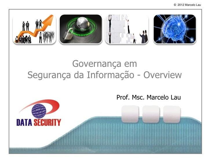 Governança de segurança da informação - Overview