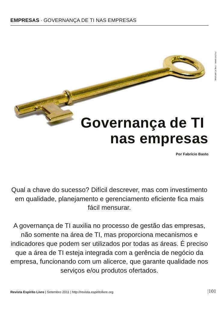 Governança de TI nas empresas
