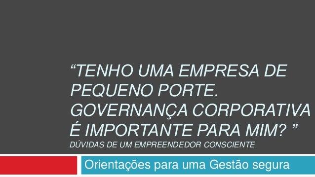 Governanca corporativa pme