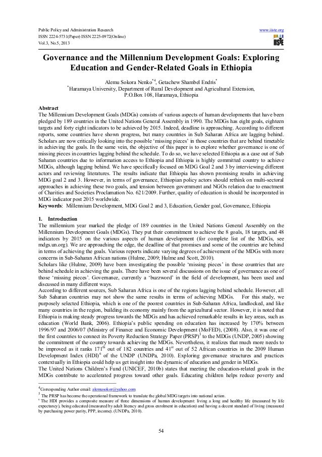 Public Policy and Administration Research www.iiste.orgISSN 2224-5731(Paper) ISSN 2225-0972(Online)Vol.3, No.5, 201354Gove...