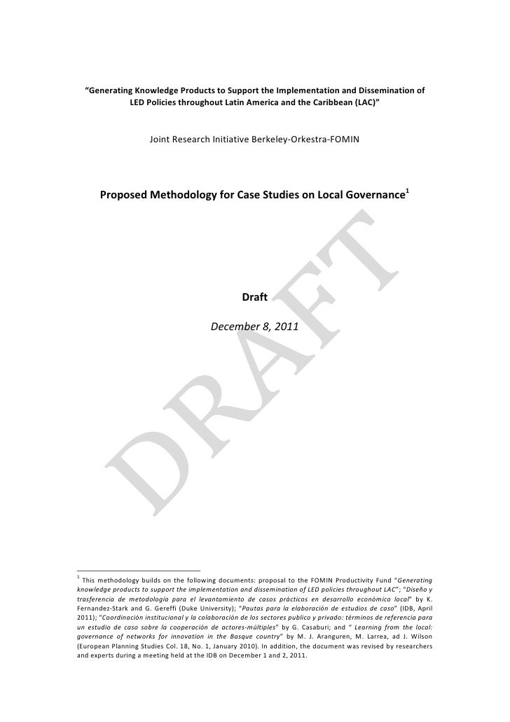 Governance Case Studies Methodology_Draft