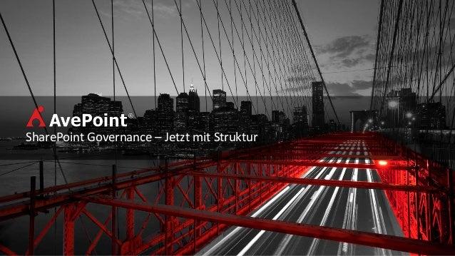 SharePoint Governance - Jetzt mit Struktur @CollabDays