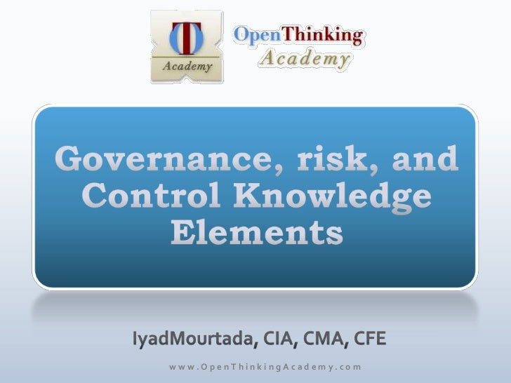 Governance, Risk, and Control Knowledge Elements