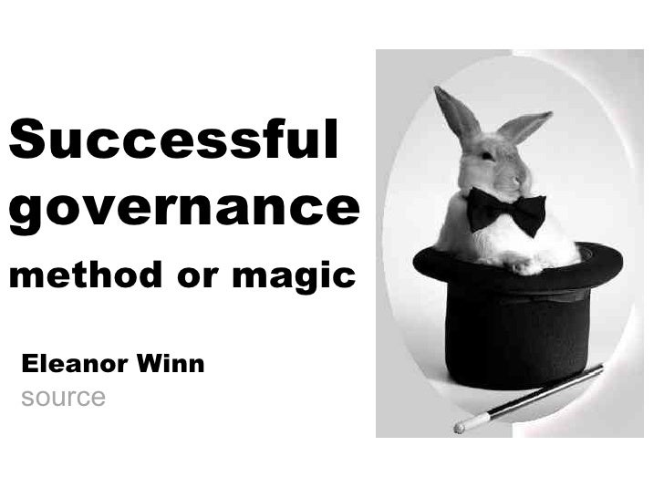 Successful  governance Eleanor Winn source method or magic