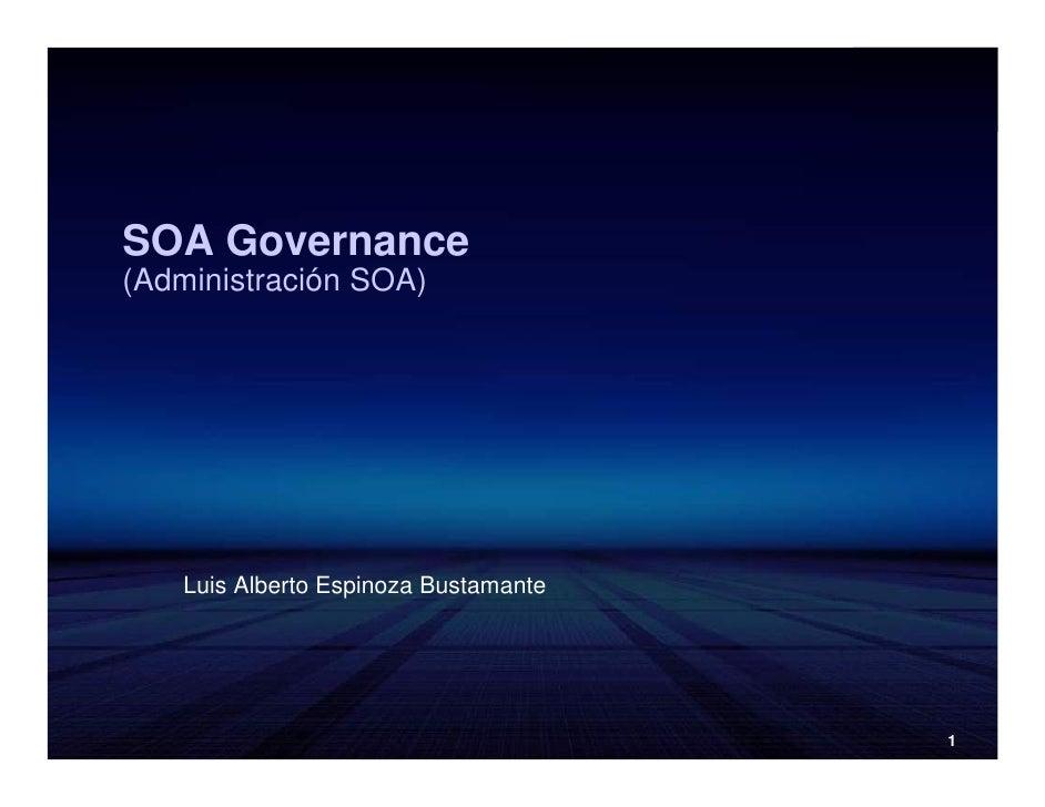SOA Governance, Enfoque Practico