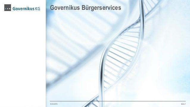 Governikus Bürgerservices 13.03.2015 Seite 1