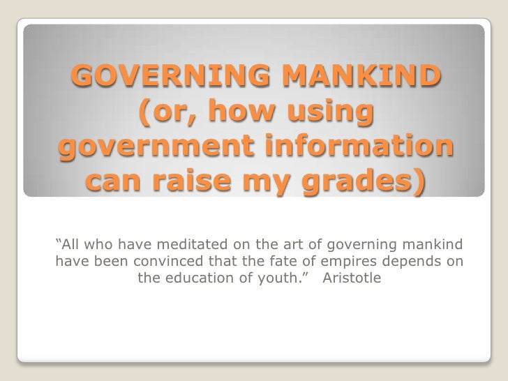Governing Mankind And Govinfo 090723
