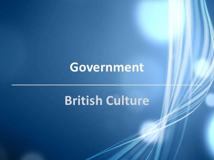 GovernmentBritish Culture
