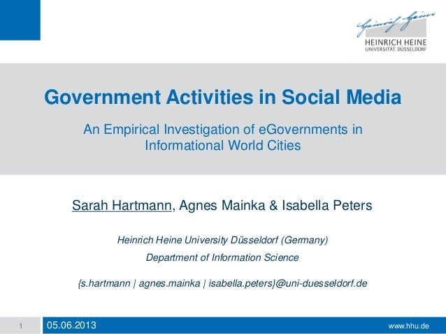 Government Activities in Social Media