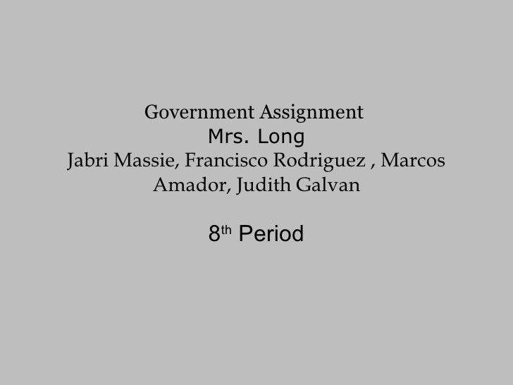 Government Assignment22
