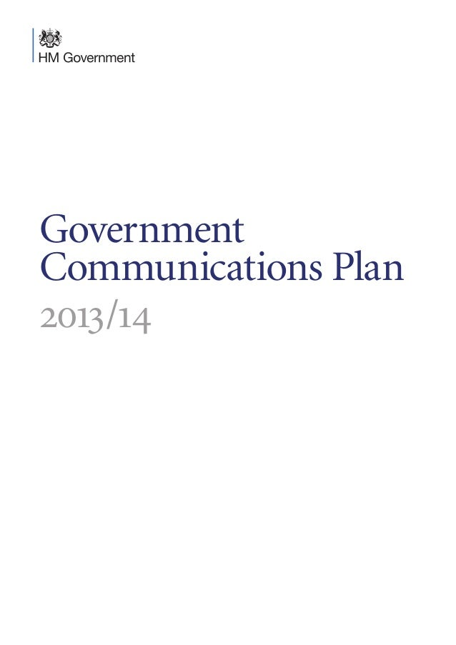 Government Communications Plan 2013 - 2014