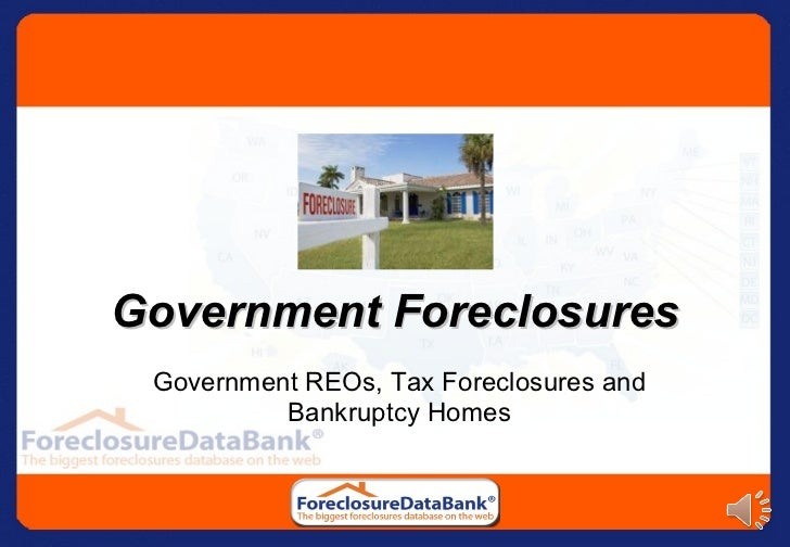 Government Foreclosures: Government REOs, Tax Foreclosures and Bankruptcy Homes