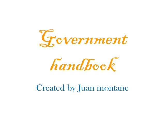 Government handbook by Juan