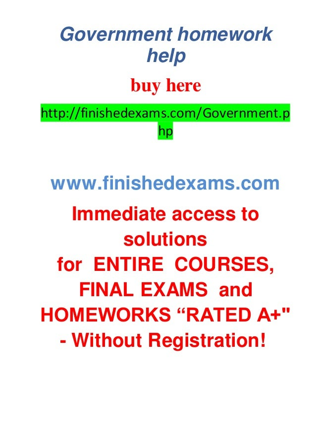 Goverment homework help
