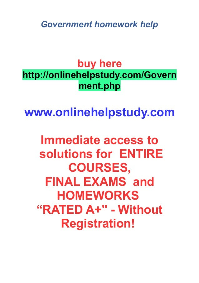 Government homework help