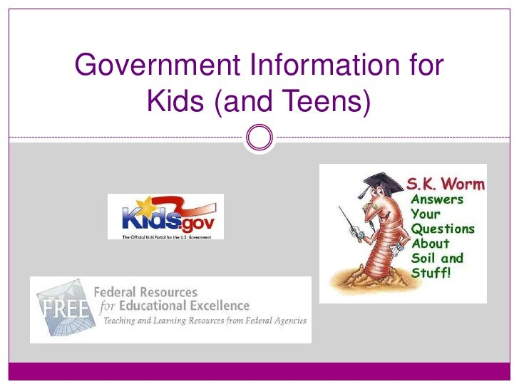 Government information for kids and teens