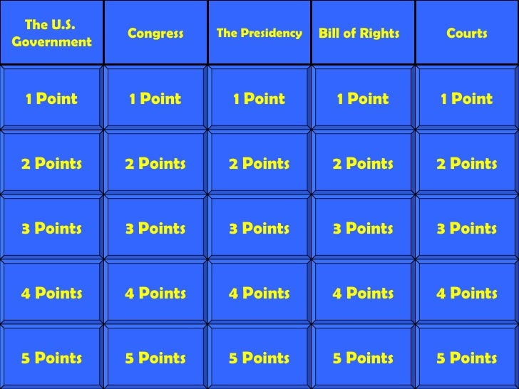 Constitution Games For Kids