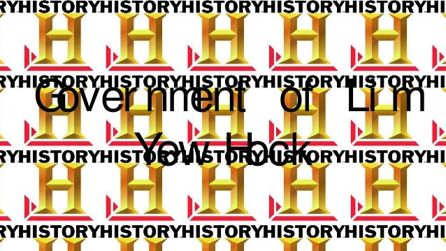 Secondary 2 History-Government of Lim yew hock