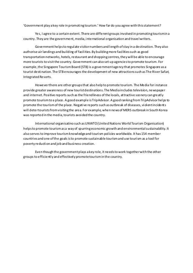 Promoting tourism essay sample