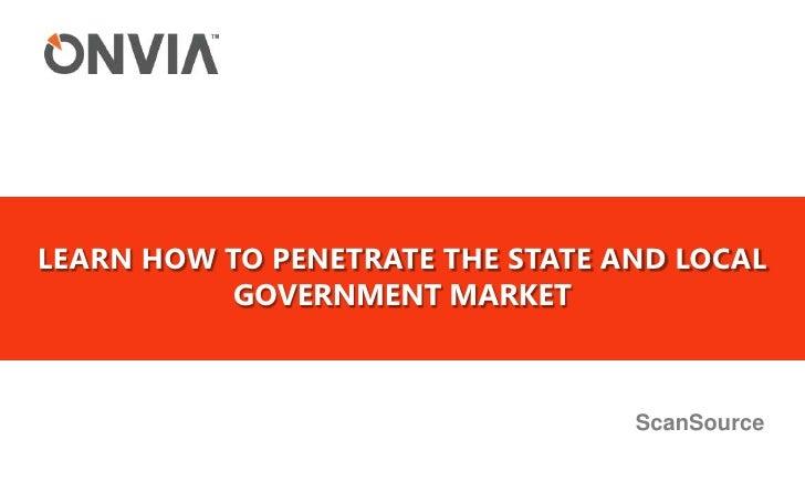 Government procurement scansource